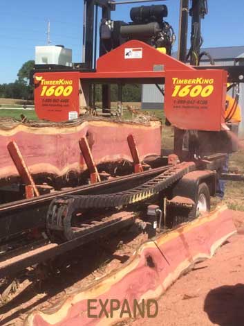 Portable Mobile Sawmill Service in southeast Nebraska
