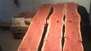 Eastern Red Cedar slabs